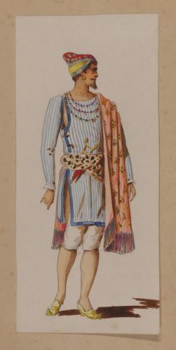Modelo de indumentaria teatral oriental