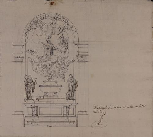 Estudio para el retablo de la iglesia de San Pedro de Alcántara en Arenas de San Pedro