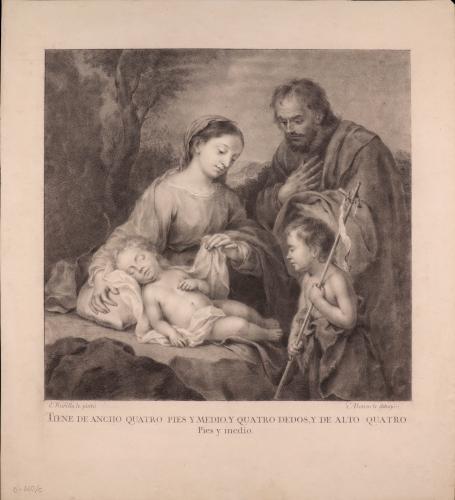 Sagrada Familia y san Juanito