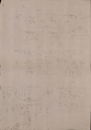 Piezas del Museo Pío Clementino: dos bañeras y un labrum