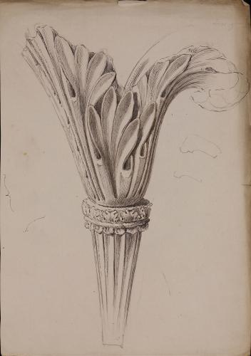 Caulículo de un capitel corintio