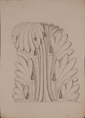 Detalle de un capitel corintio