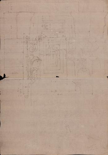Detalle de pilastras Templo de Antonino y Faustina
