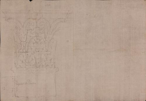 Capitel corintio de pilastra del Templo de Mars Ultor