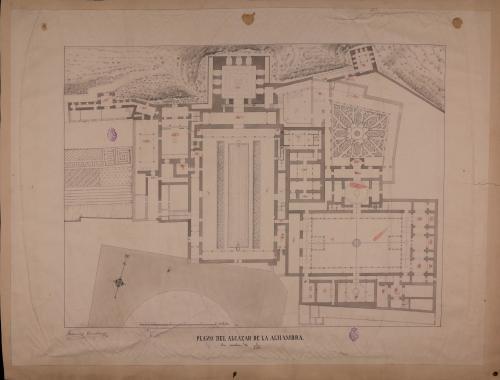 Planta del palacio de la Alhambra