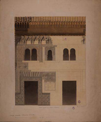 Alzado de la fachada del palacio de Comares de la Alhambra