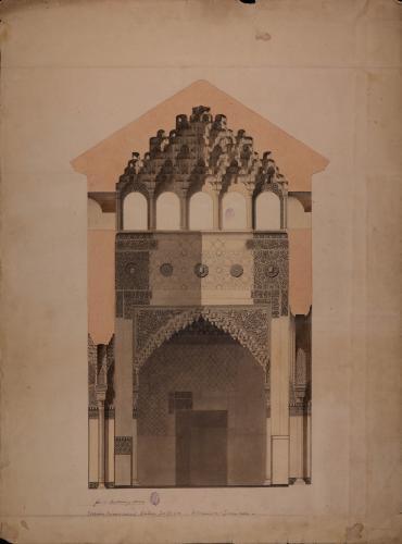 Sección transversal de la sala de los Reyes de la Alhambra
