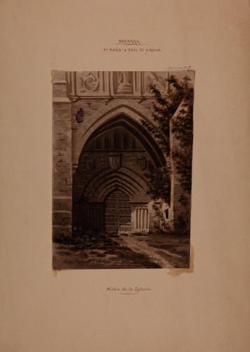 Estudio de la portada de la iglesia del monasterio de Irache (Navarra)