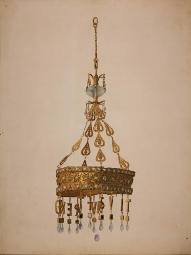 Tesoro de Guarrazar (Toledo). Corona votiva de Recesvinto.