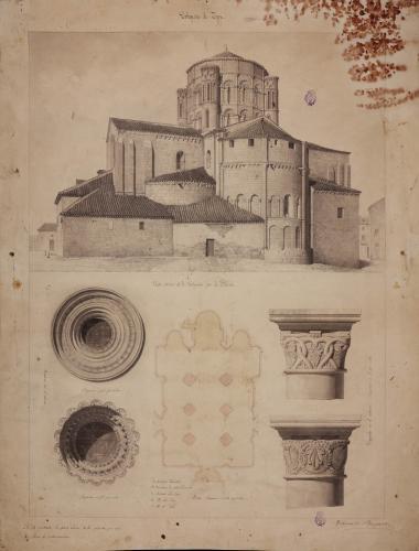 Colegiata de Toro (Zamora). Exterior, planta y detalles.