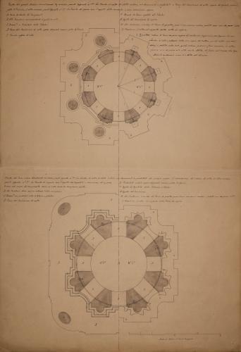 Planta del tercer y cuatro cuerpo de la torre de la Seo de Zaragoza