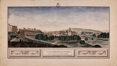 Vista de la Alhambra de el castillo de Torres Bermejas