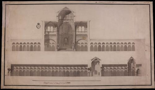 Sección de la catedral de Córdoba y de la mezquita