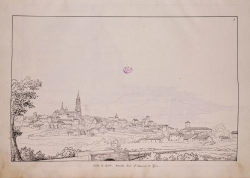 Vista de Oviedo desde el camino de Gijón