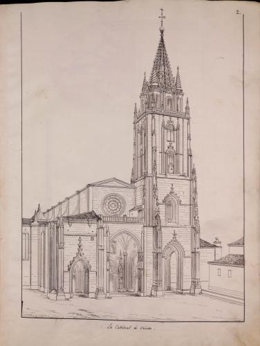 Visa de la catedral de Oviedo