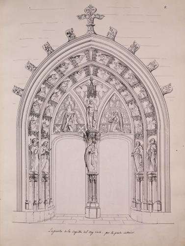 Puerta de la capilla de Nuestra Señora del rey Casto