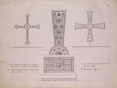 Cruz de la Victoria, Cruz de los Ángeles y Arca de las Reliquias