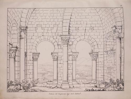 Vista del campanario viejo de la catedral de Oviedo