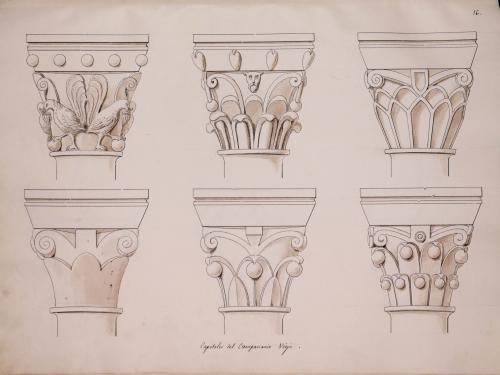 Capiteles románicos del campanario viejo de la catedral de Oviedo