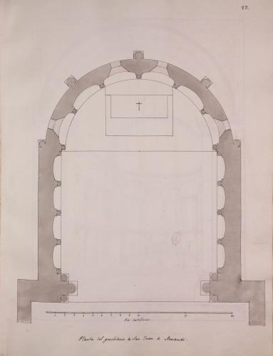 Planta del presbiterio de San Juan de Amandi (Villaviciosa)