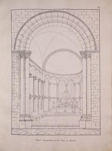 Vista del presbiterio de San Juan de Amandi (Villaviciosa)