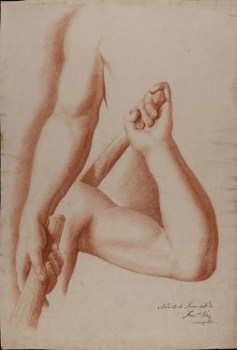 Estudio de los brazos con antorchas del Grupo de San Ildefonso