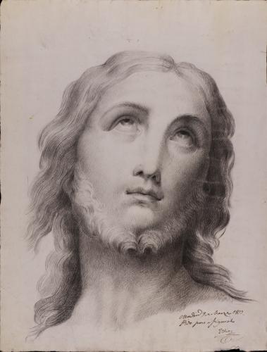 Estudio de cabeza de Jesucristo