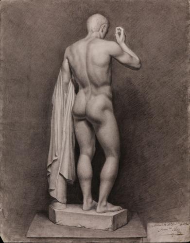 Estudio de la parte posterior de la escultura de Claudio Marcelo, anteriormente identificada como Germánico