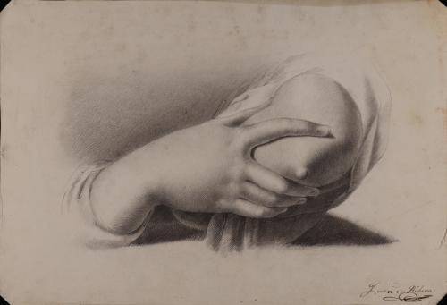 Estudio de mano derecha de una Caridad