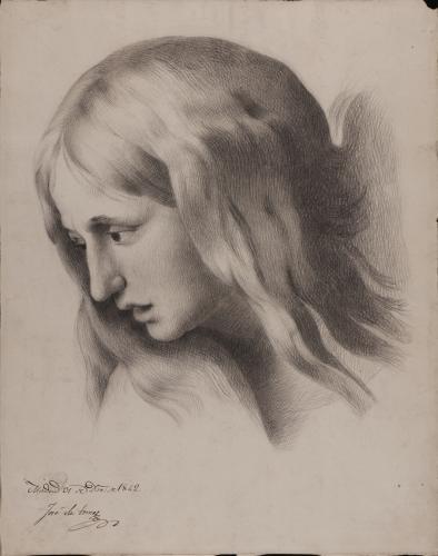 Estudio de cabeza femenina del Pasmo de Sicilia