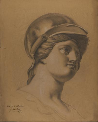 Estudio de cabeza de Minerva
