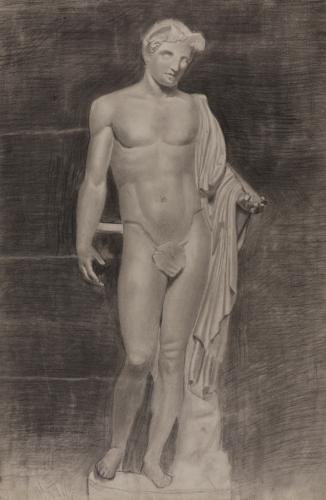 Estudio de la escultura Mercurio / Hermes tipo Lansdowne-Berlín-Pitti