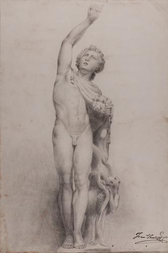 Estudio de escultura de Dionisos, anteriormente llamado Fauno Medici