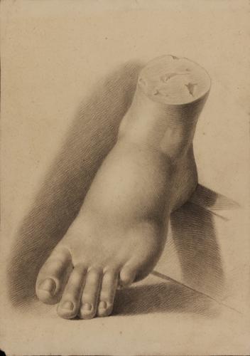 Estudio de pie izquierdo de escultura