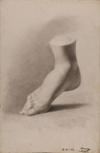 Estudio de vaciado de pie derecho