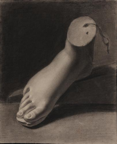 Estudio de pie derecho de escultura