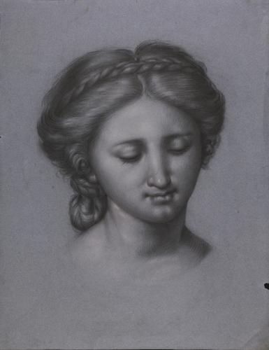 Estudio de la cabeza de la Virgen de la