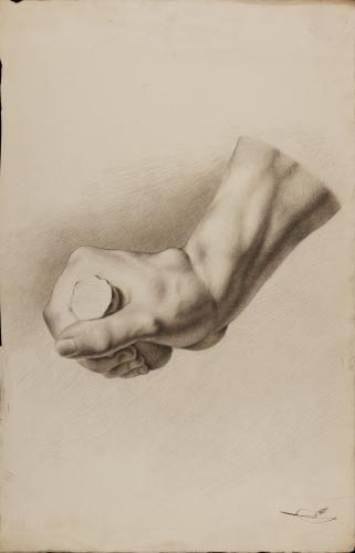Estudio de la mano derecha del gladiador Borghese