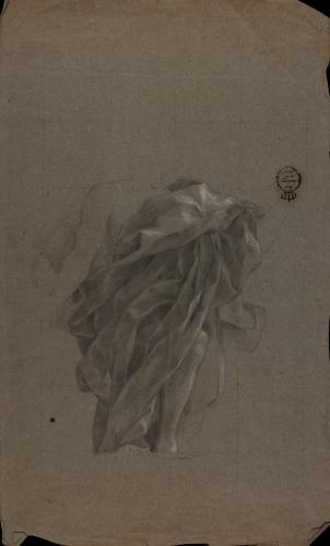 Estudio de ropaje de la figura de Jano de la Apoteosis de Hércules en el Palacio Real
