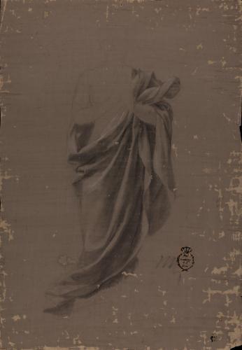 Estudio de ropaje de la Inmaculada