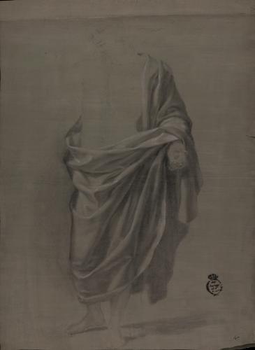 Estudio de ropaje de figura de Jesucristo