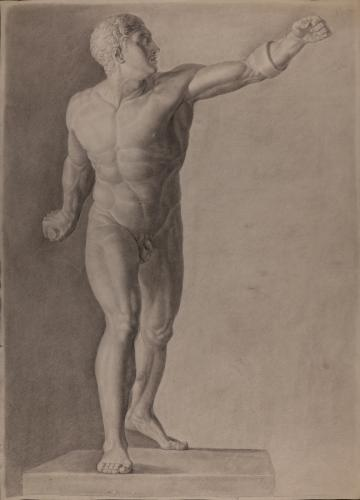 Estudio del gladiador Borghese