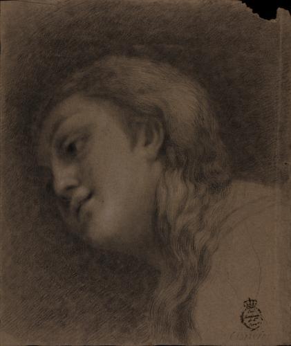 Estudio de la cabeza de María Magdalena de Correggio