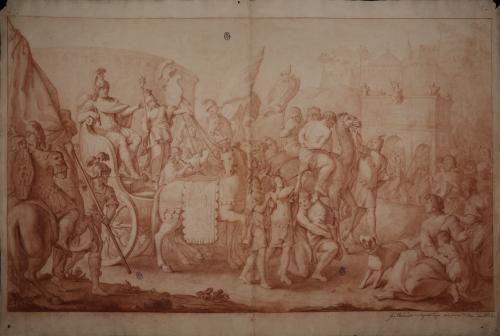 Estudio de entrada triunfante de Wamba en Toledo