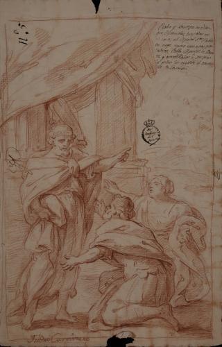Estudio de San Pablo y la conversión de Probo y su mujer Xantipe