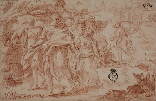 Estudio de Lot huye con su hijas de Sodoma