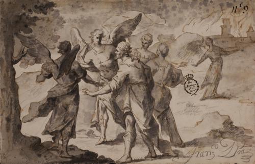 Estudio de Lot huye con sus y hijas de Sodoma