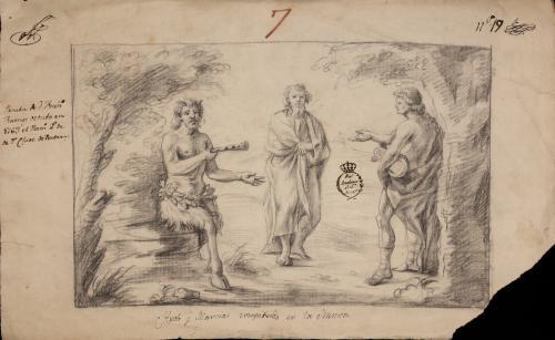 Estudio del concurso musical de Apolo y Marsias