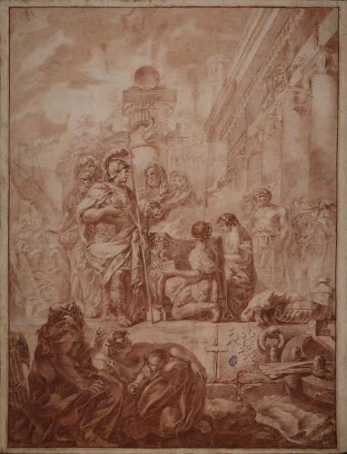 Estudio de Aníbal en el templo de Hércules en Cádiz