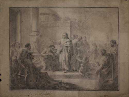 Estudio de Jesús cura a los ciegos y tullidos en el templo